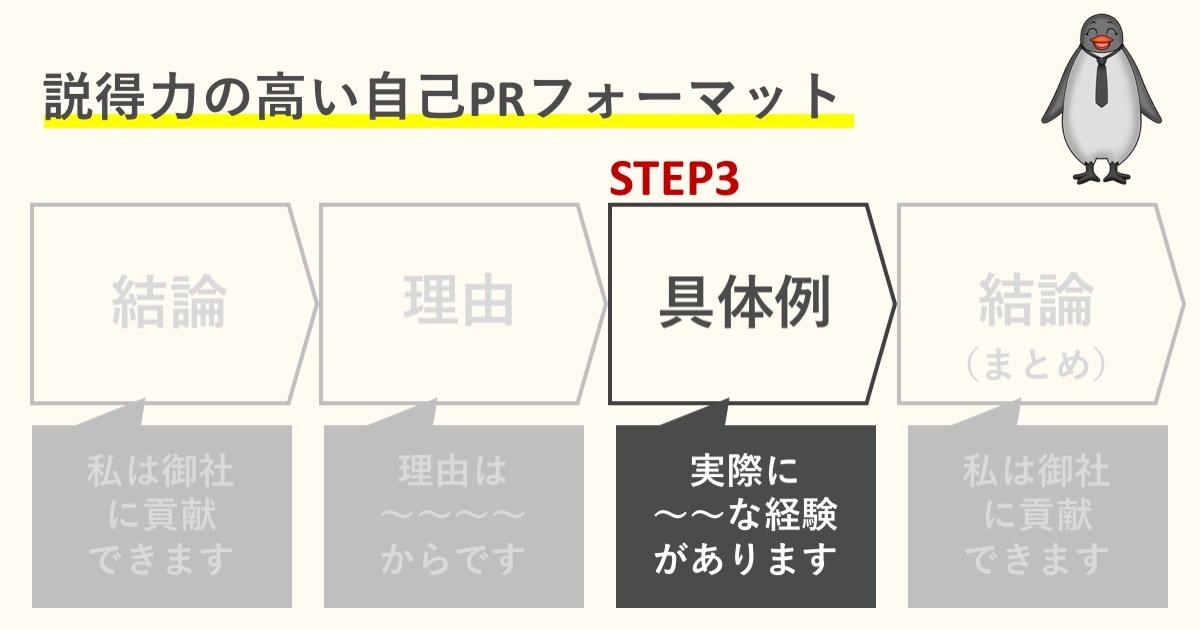 STEP3:具体例(エピソード)